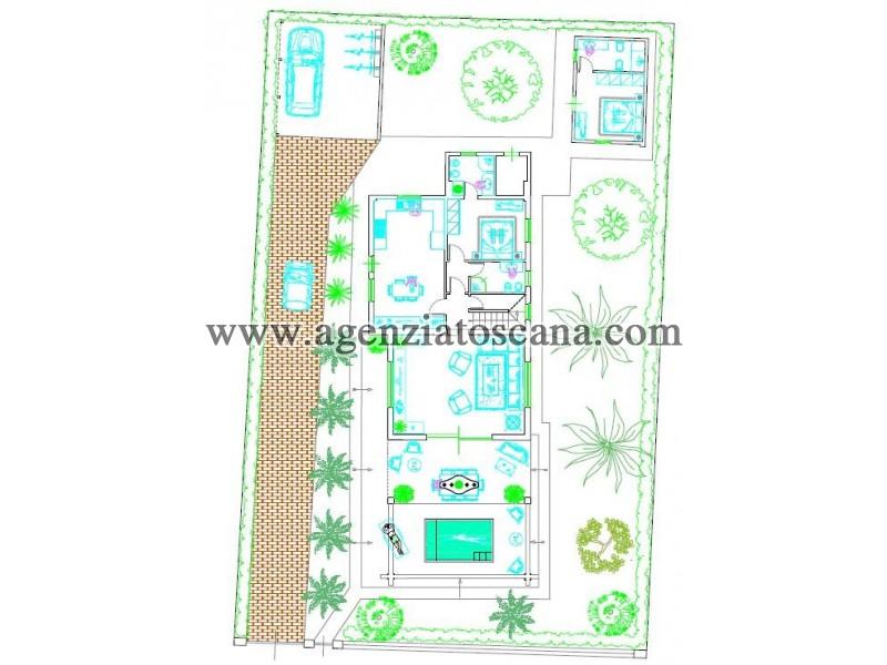 Villetta Singola in vendita, Forte Dei Marmi - Ponente - progetto con vasca idromassaggio camera matrimoniale a piano terra e dipendenza con camera e bagno 24
