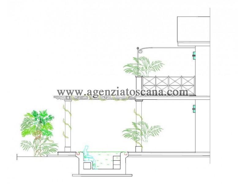 Villetta Singola in vendita, Forte Dei Marmi - Ponente - sezione con vasca idromassaggio 26