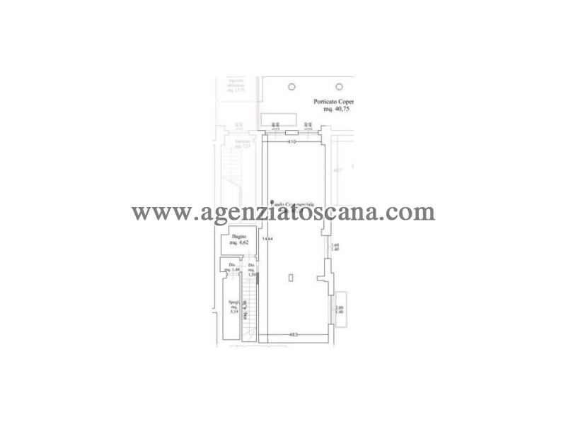 Immobile Commerciale - Direzionale in vendita, Forte Dei Marmi - Vittoria Apuana - negozio 1 p.t. 6
