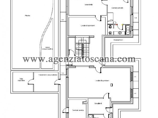 Villa Con Piscina in vendita, Forte Dei Marmi - Ponente - PIANO INTERRATO 15