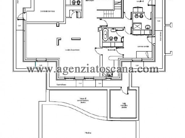 Villa Con Piscina in vendita, Forte Dei Marmi - Ponente - PIANO SEMINTERRATO 6