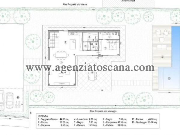 Villa Con Piscina in vendita, Forte Dei Marmi - Vaiana - Progetto con 1200 mq. di terreno 10