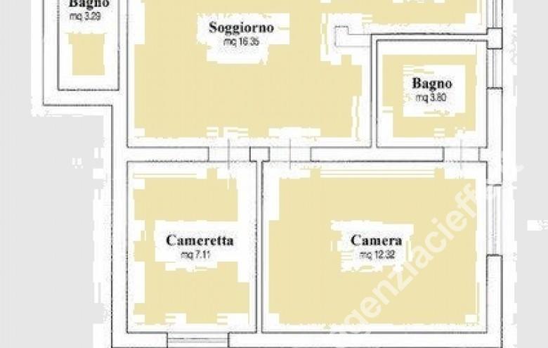Agenzia Cieffe - planimetria di porzione di bifamiliare in vendita a Forte dei Marmi @agenziacieffe.it