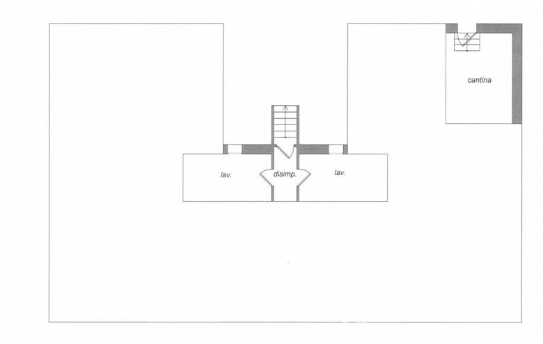 Agenzia Cieffe - Forte dei Marmi bifamiliare piano interrato planimetria @agenziacieffe.it