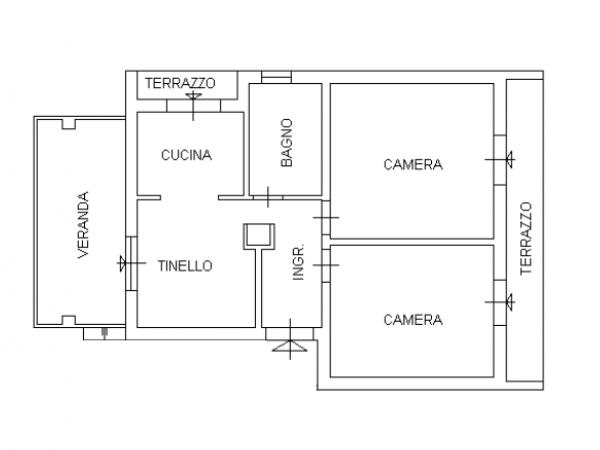 appartamento in villa con giar